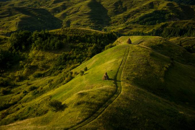 Green hills. by Anna_Miziolek - Above The Earth Photo Contest