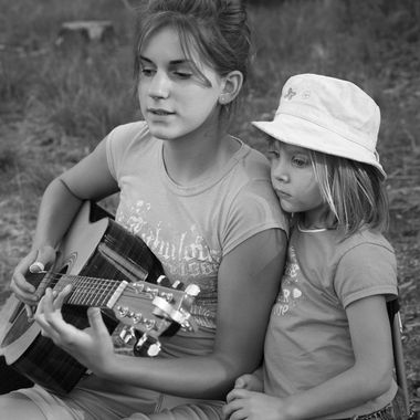 Captured this photo of my nieces as we sat around the campfire telling stories and singing songs.