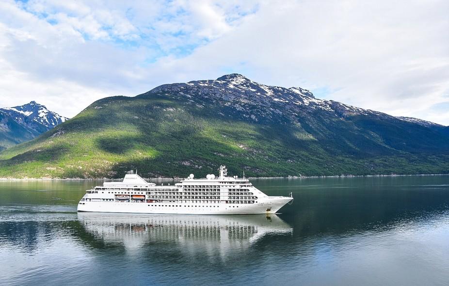 Cruise ship reflects