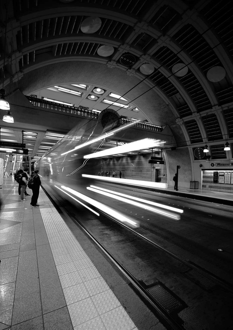 Downtown Seattle Transit Tunnel, Pioneer Square by kiwidragonfly - Public Transport Hubs Photo Contest