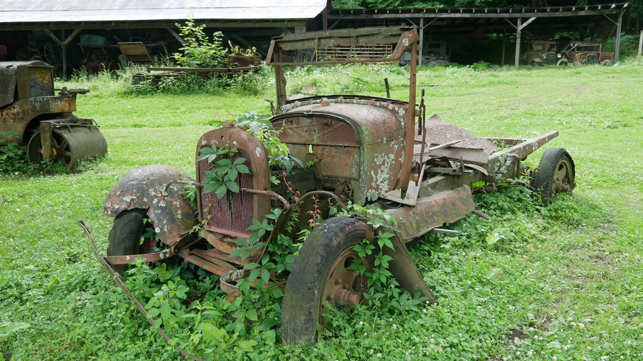 Ruins of a truck