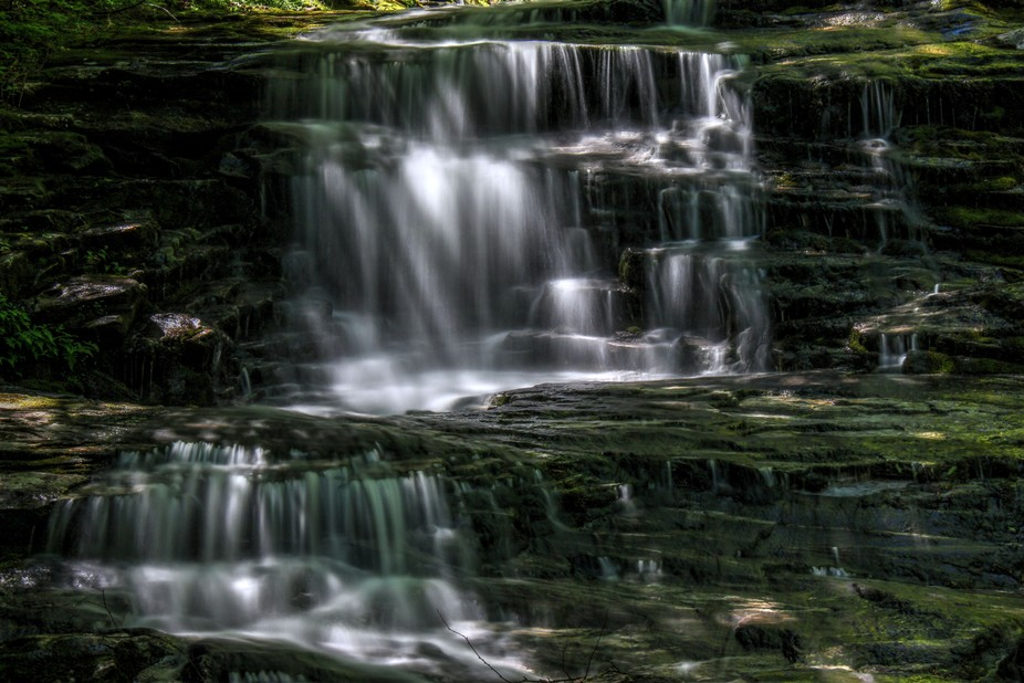 Taken in the White Mountains national forest. This is part of the cascades or Beaver brook runnin...