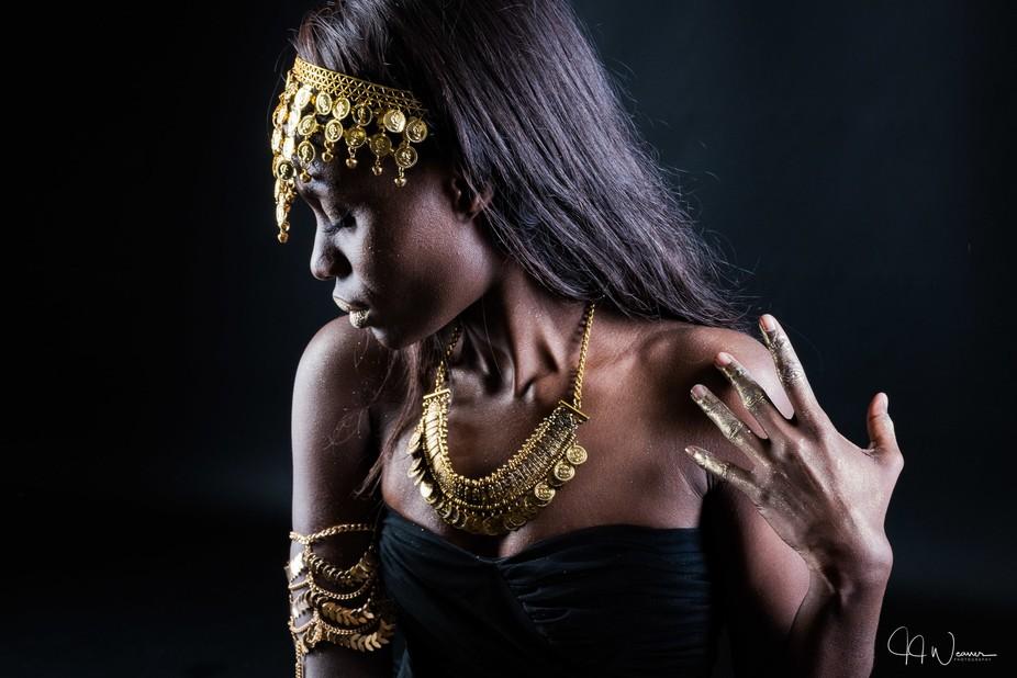 Goddess in gold 2