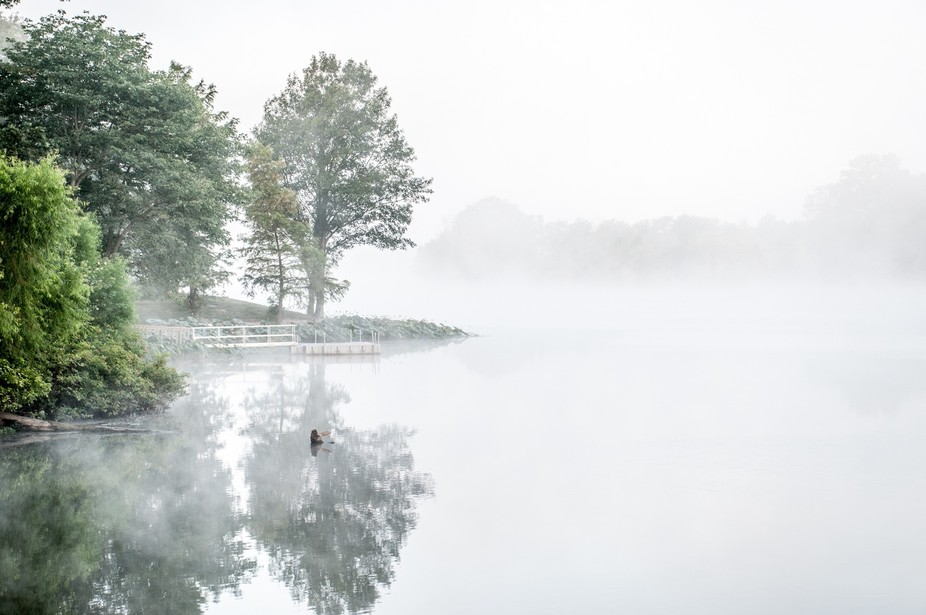 Reflections on a foggy morning.