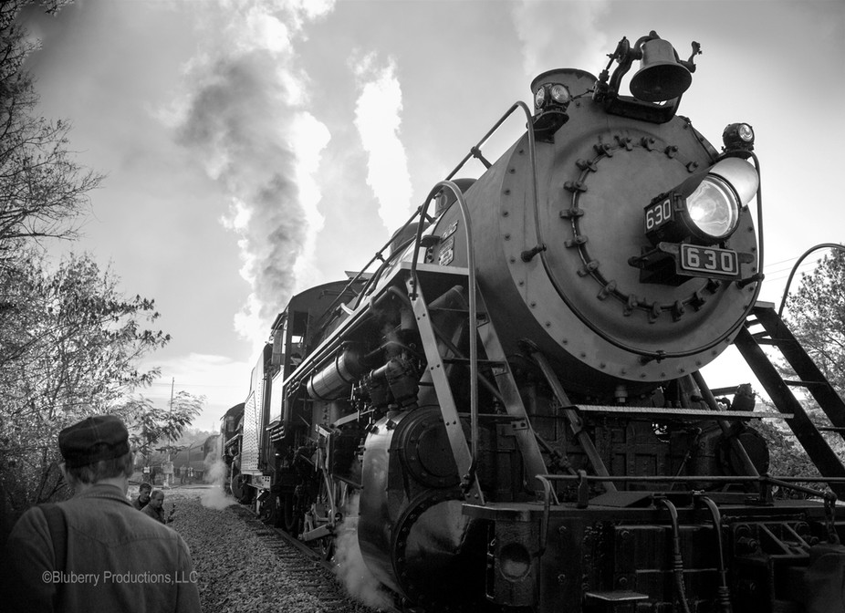 This was part of a series I shot of two hitched together steam locomotives in Georgia.