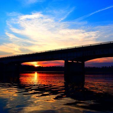 Windy Point, Rainy Lake, Ontario, Canada. Rainy Lake Sunset  Nikon D3400 vivid