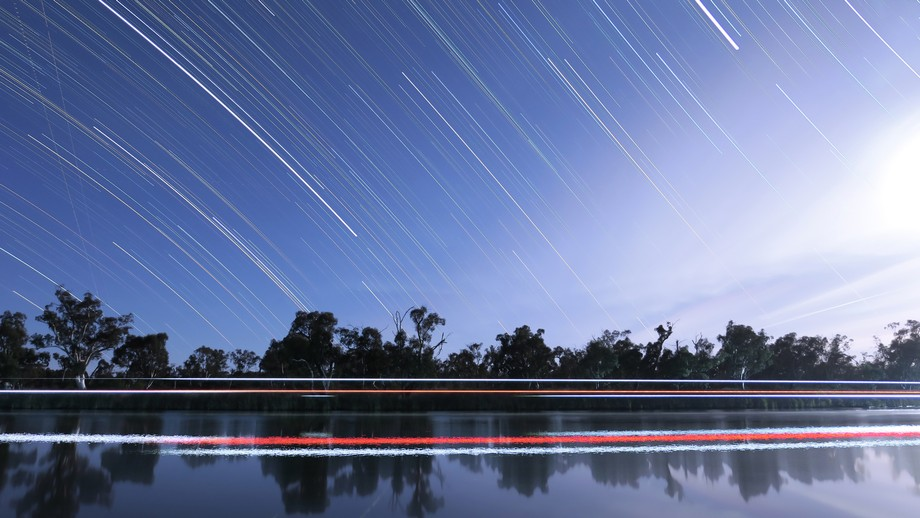 This shot is at the Murray River, South Australia. The camera had been capturing shots to blend f...