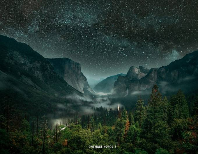 The Lights of Yosemite by crismagsino - Night Wonders Photo Contest
