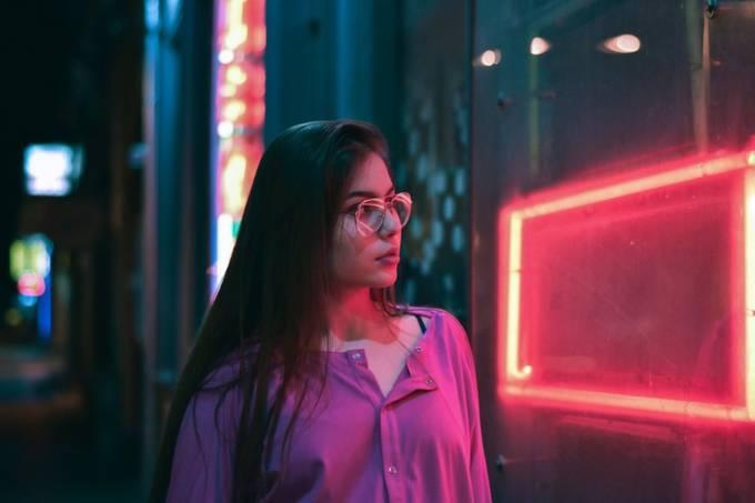 Neon portrait by TijanaKocic01 - People At Night Photo Contest