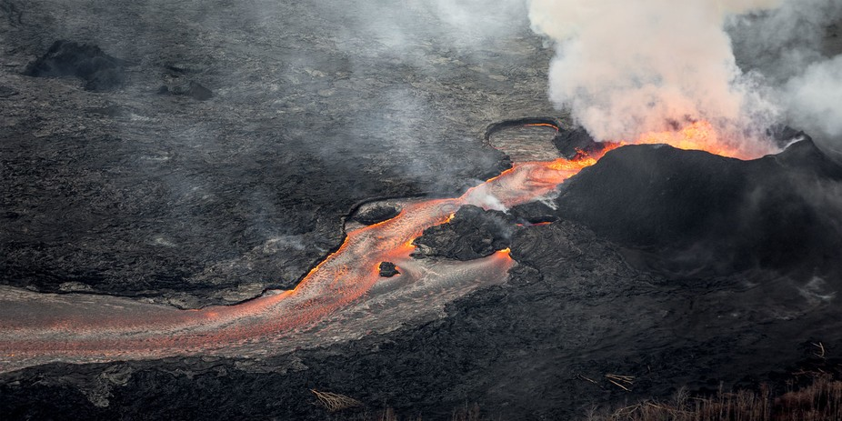 The current lava flow that is going on right now on the Big Island of Hawaii.