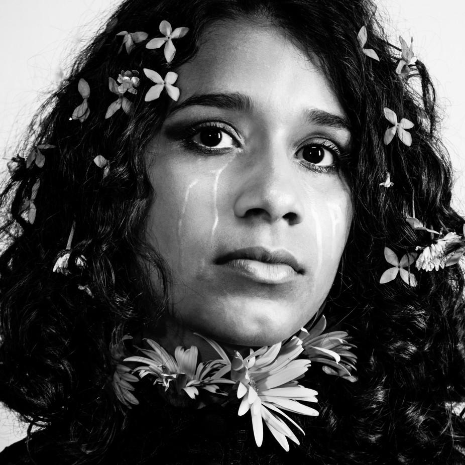 """Honey for hummingbirds"" by guidoasenjoart - Black And White Female Portraits Photo Contest"