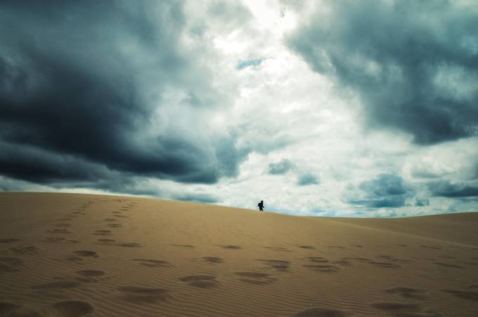 This picture was taken at the Dune of Pilat in France.  It is the tallest sand dune in all of Europe.