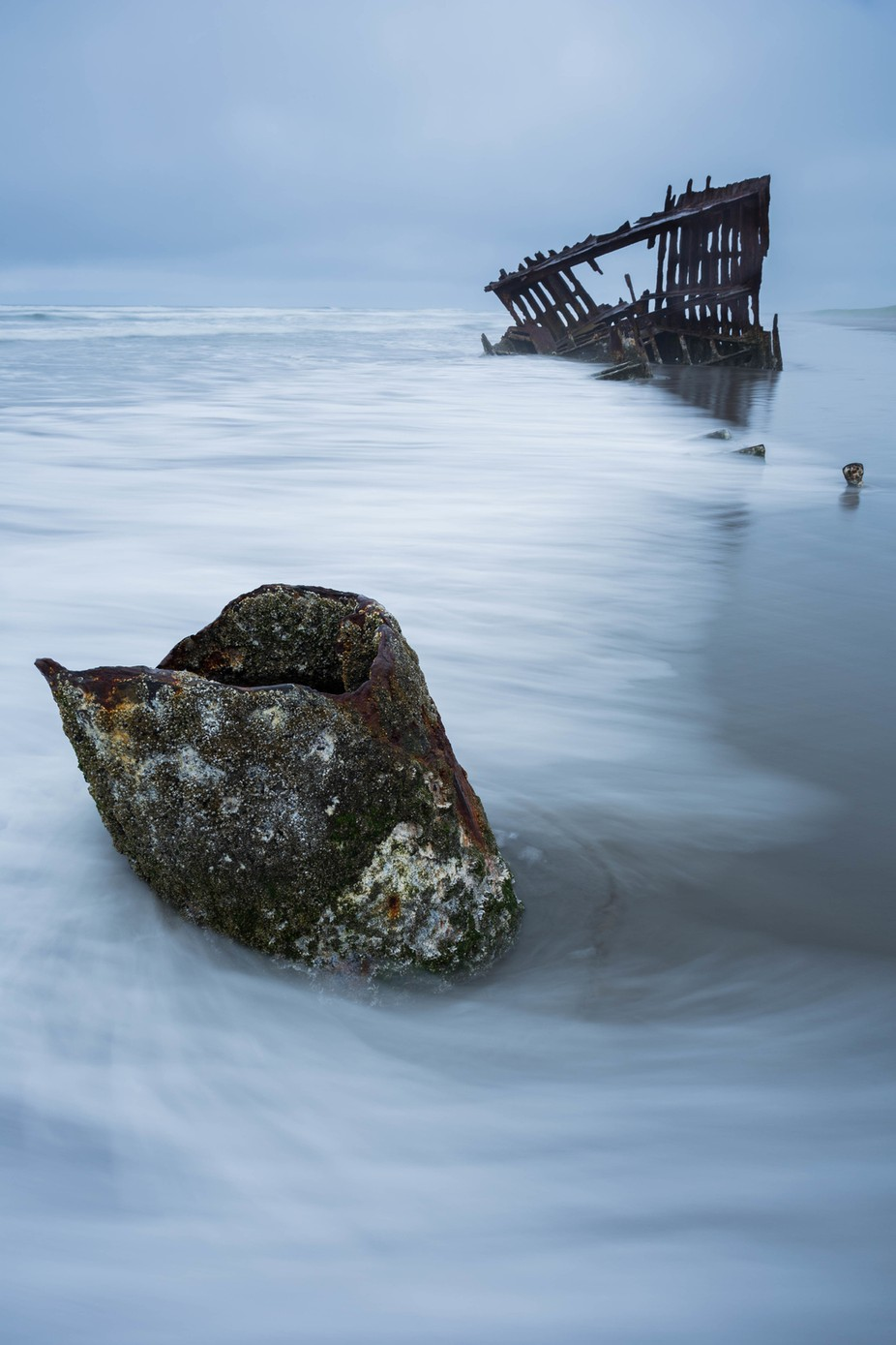 Peter Iredale Incoming Tide  by jaredweaver - Rule Of Thirds Photo Contest v4