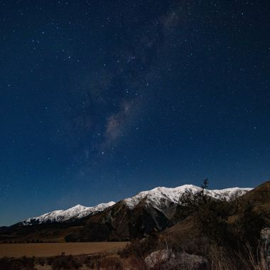 Torlesse hilled and Milky Way