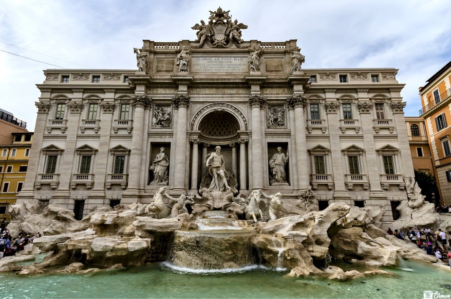 Roma eternal city, Trevi fountain