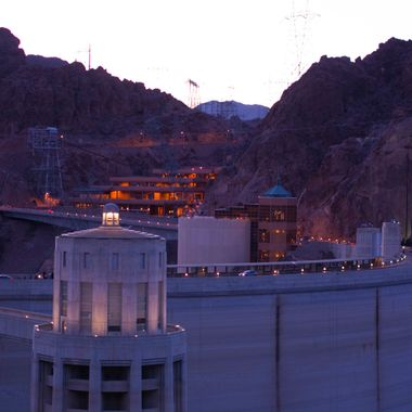 Hoover Dam from the Arizona side.