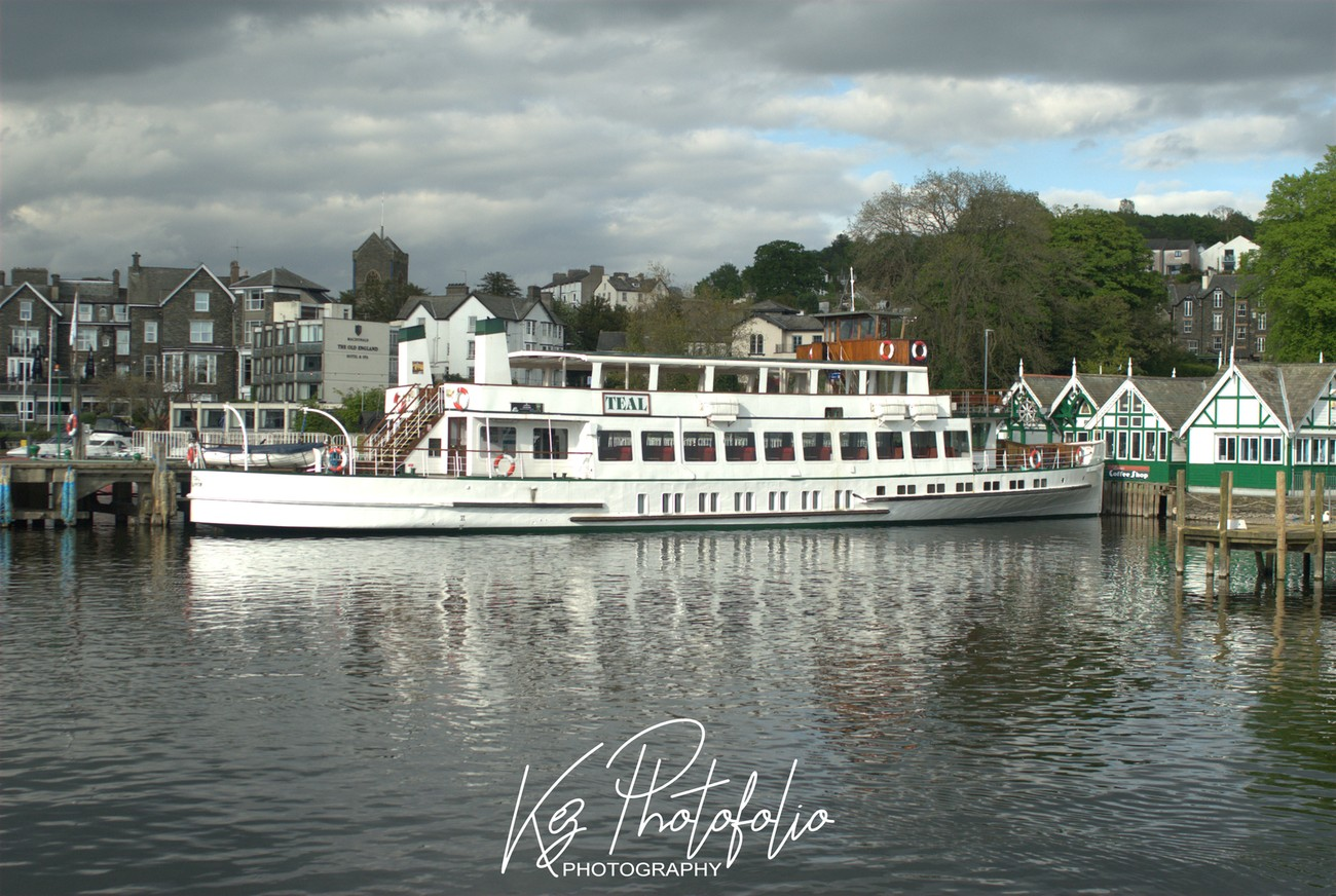 Windermere is the largest lake in England. The Teal is one of the steamers that take tourists and visitors to the Lake district around the lake.