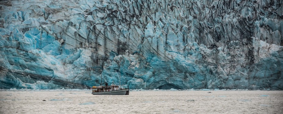 Lamplugh Glacier is a big boy.