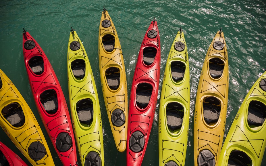 Pick you kayak and head out to adventure in Glacier Bay NP, AK.
