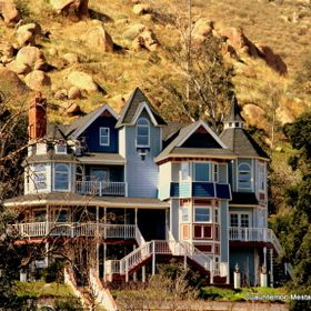 Old Victorian house in Riverside Ca., in the  Mt. Rubidoux aera