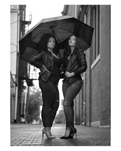 Models @_julia_ashley_  and @x_mi.vida.loca_x  MUA @_julia_ashley_  #kapturephotos #expressive  # #photographyeveryday  #model_look #photomodel #bwphotography  #bw #blackandwhitephotography #blackandwhite #portrait #monochromatic  #bnw #monochrome #leathe
