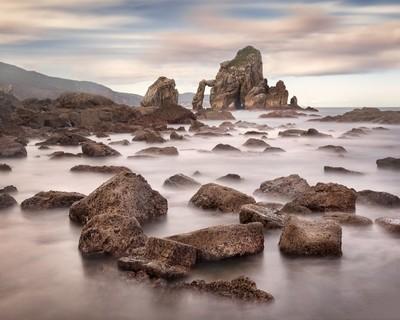 Rocky Beach of Gaztelugatxe in the Morning, Basque Country