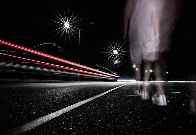 A walk in the night by Night_Camera - Capture Motion Blur Photo Contest