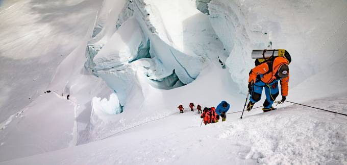 Everest North col. Wideshot. by ChristianDebney - Health And Fitness Photo Contest