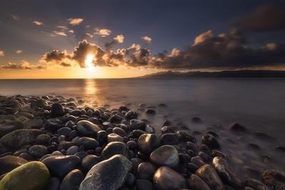 Wet Rock Sunset
