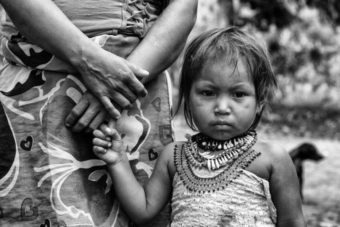 Embera -hands, Choco, Colombia