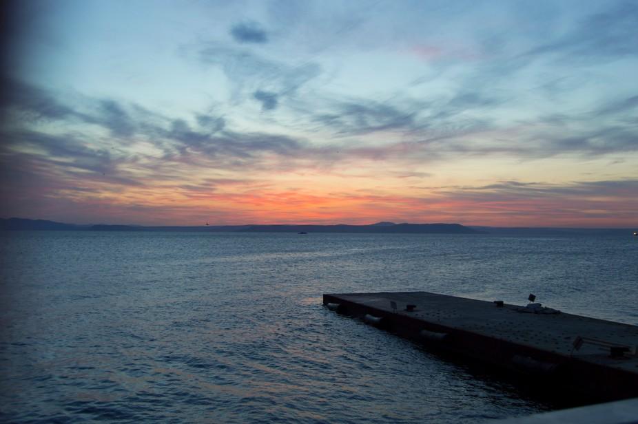 Berth, sea, sunset