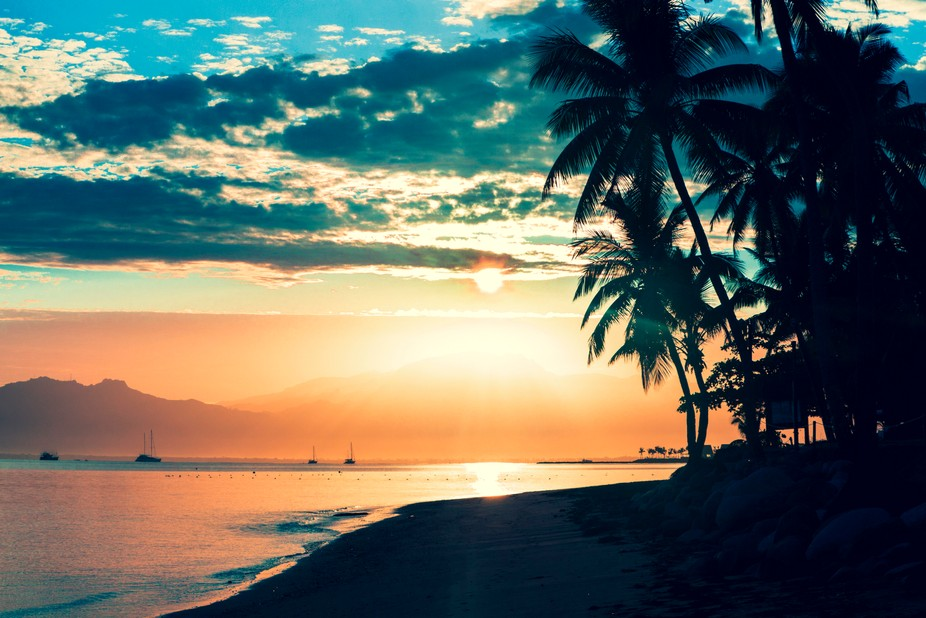 Sunrise on the beautiful Denarau Island Fiji