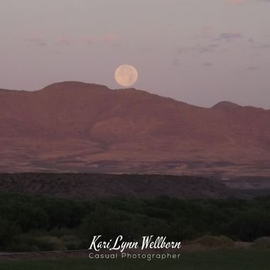 Strawberry Moon setting