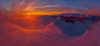 Winter view of the Aarba ridge.