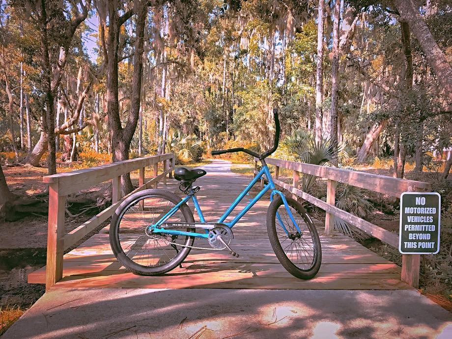 Relaxing bike ride on Jekyll Island