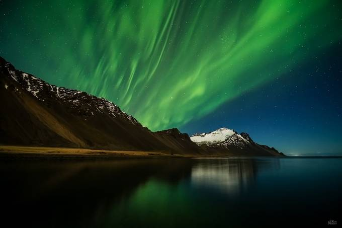 Aurora Night Sky by KimNordbyPhotography - The Night And The Mountains Photo Contest