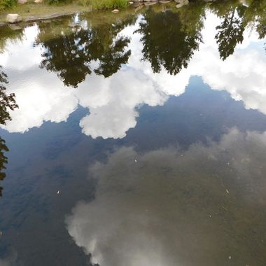Reflection of clouds in the lake