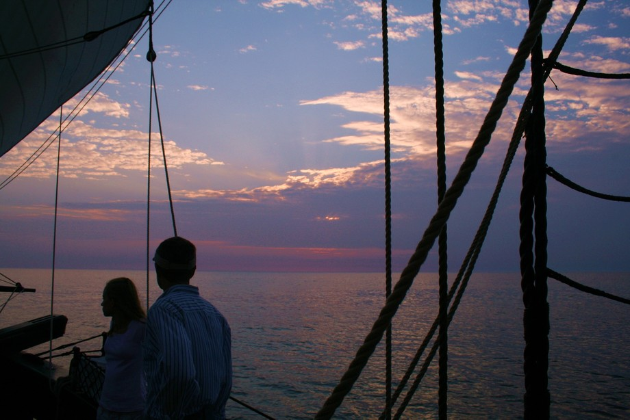 The Goodwill Friendship is a sailing schooner that regularly takes evening excursions out of South Haven, Michigan.  One must experience a sailing vessel of at least this magnitude to understand the history of our country.