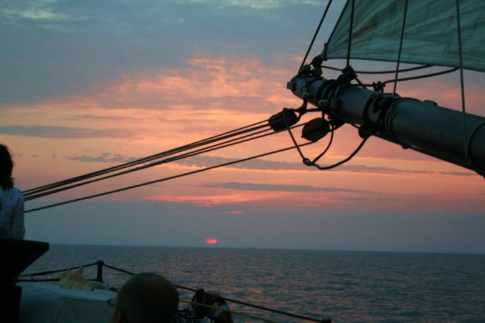 This from aboard the schooner Goodwill Friendship sailing out of South Haven, Michigan.