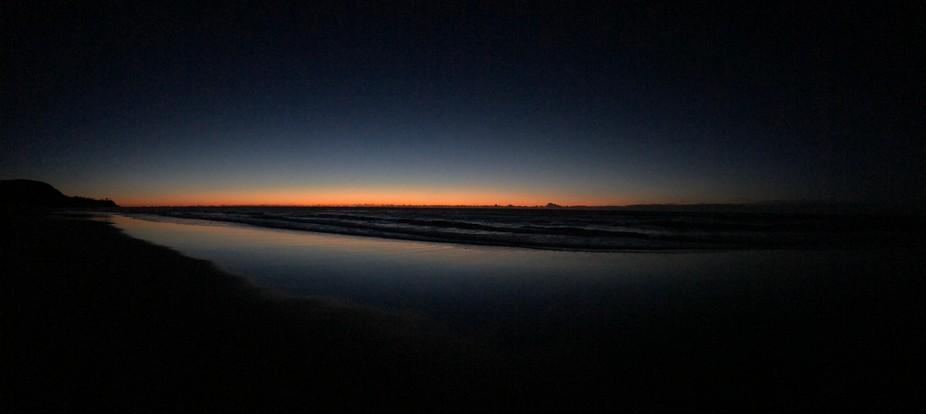 iPhone 8plus Panorama shot, taken about 30 minutes before sunrise. Sunshine Beach, near Noosa, Qu...