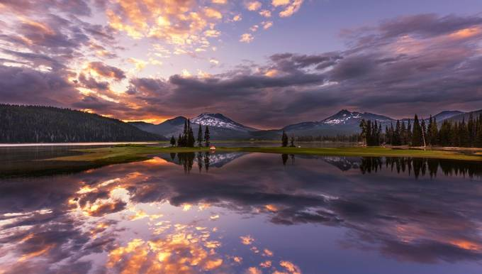 Sparks Lake at Sunset by svetlana56 - The Natural Planet Photo Contest