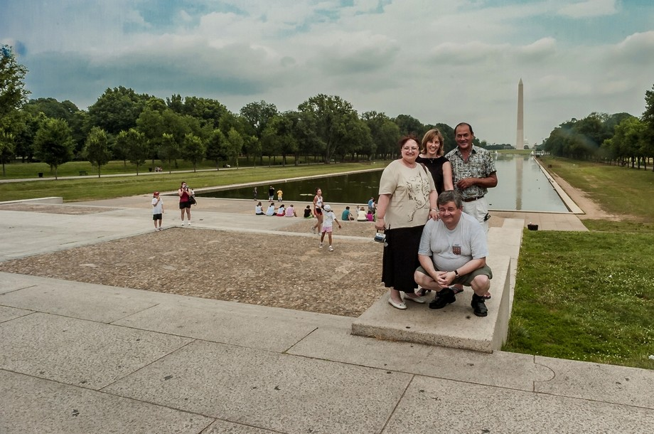 Tourists in Washington DC at its Memorial, typical street photography taken by all
