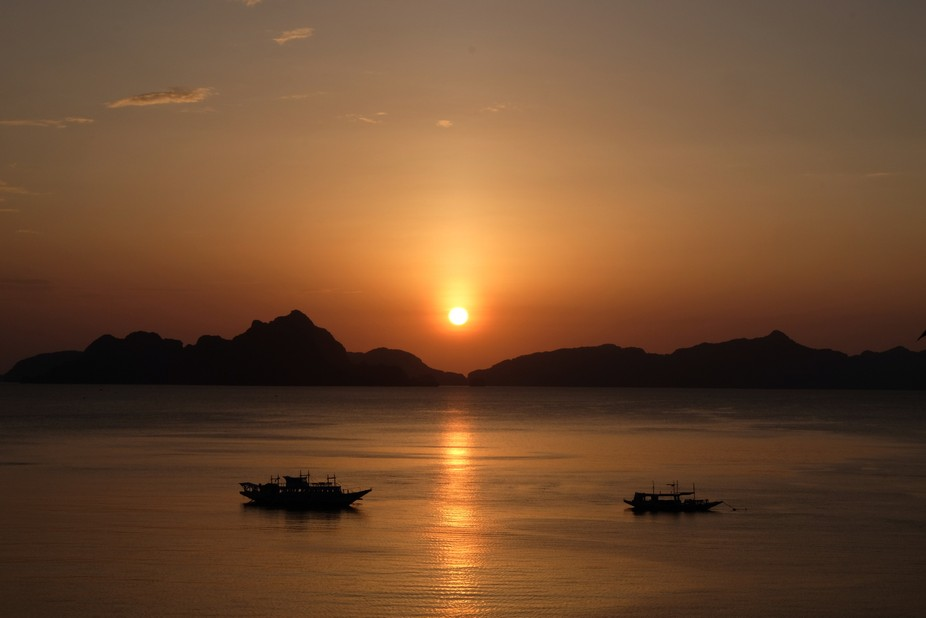 I love this image I captured of one of the amazing sunsets at El Nido, Palawan