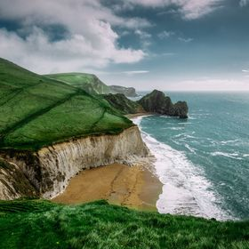 Jurassic coast in Dorset, UK
