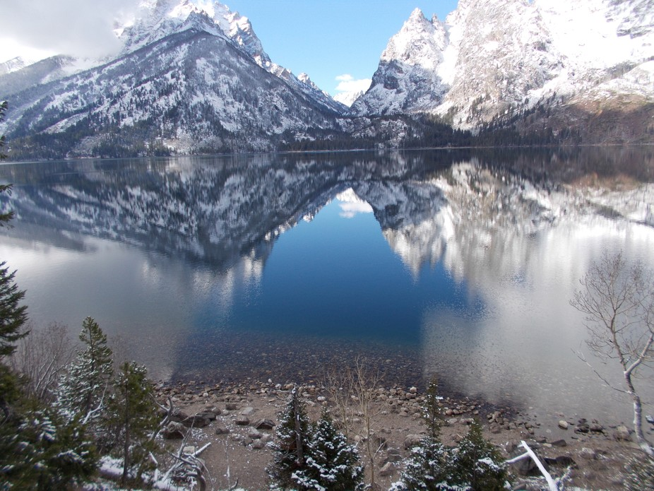 My husband and I were on a hike in Jacksonhole, WY, its was a cool crisp morning in October, the ...
