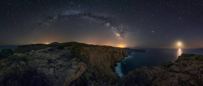 Night Cliffs  by wildlifemoments - Capture The Milky Way Photo Contest