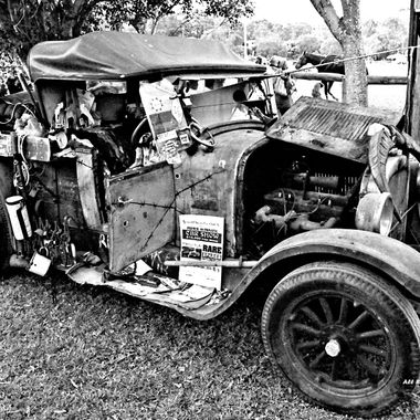 CHARCOAL OLD  HILLBILLY CAR