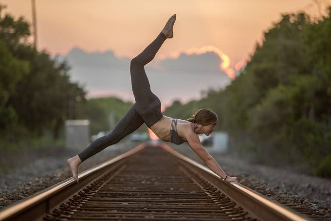 Yoga on rails. by Daniel_A_Angulo - Health And Fitness Photo Contest