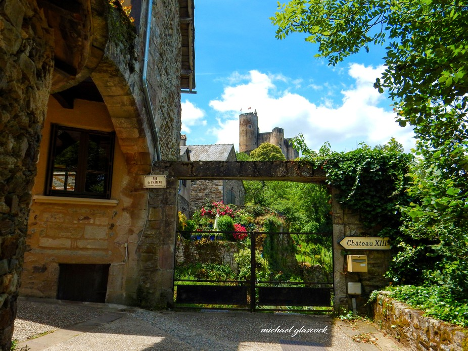 A street view of the Castle and Village of Najac , Aveyron, France ( beautiful village of france )