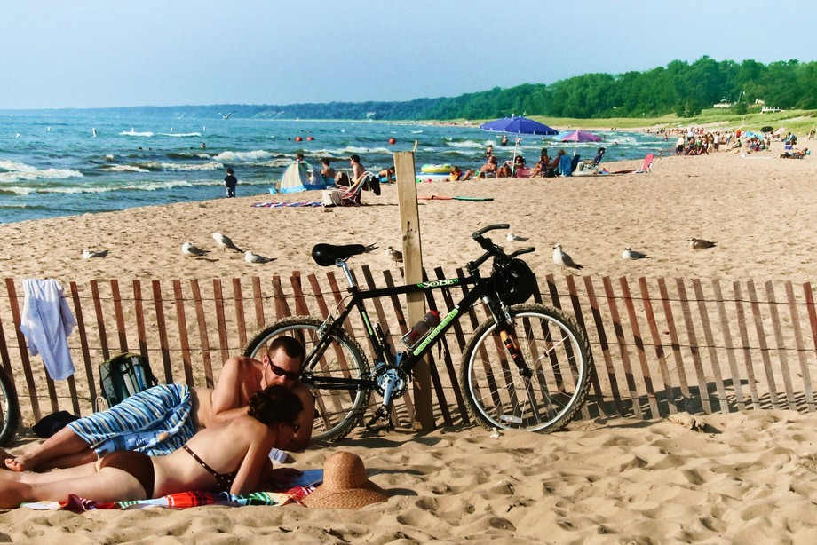 Beach is at South Haven, Michigan.